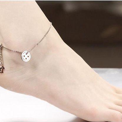 Řetízek na nohu Lucky Button