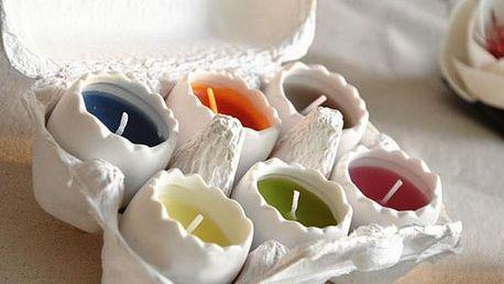 Sada svíček Vajíčka 6 ks