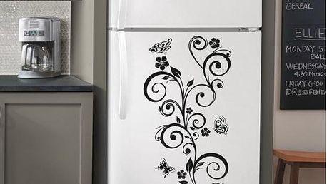 Samolepka na zeď - Motýlci s květinami - poštovné zdarma