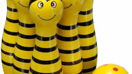 Sada dětských kuželek s koulemi - žlutá - skladovka
