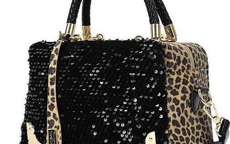 Třpytivá leopard kabelka