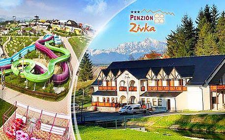 Nízké Tatry na 3 nebo 4 dny pro dva se snídaněmi, nebo polopenzí + wellness na 3 hod. či celodenní aquapark!