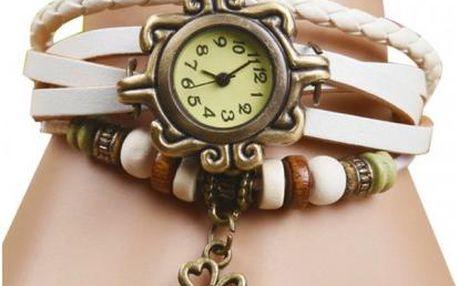 Vintage retro hodinky s přívěskem čtyřlístku jen za 109 Kč a poštovné ZDARMA!