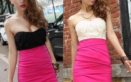 Dvojbarevné koktejlové šaty - 2 barvy