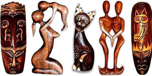 Dekorační krásné ethno sošky nebo masky, široký výběr krásných doplňků do vašeho bytu nebo jsou předměty vhodné jako dárek. Ruční výroba, každý kus je originál lišící se v drobných detailech! Osobní odběr zdarma v Praze!