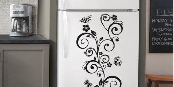 Samolepka na zeď - Motýlci s květinami