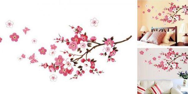 Samolepka na zeď Třešňové květy!