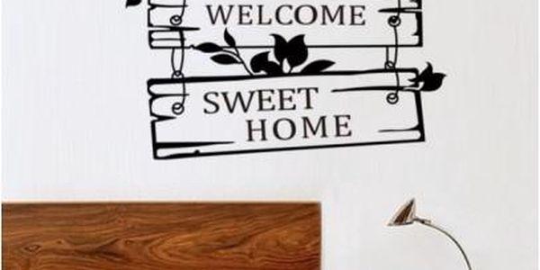 Samolepka na zeď Sweet home jen za 139 Kč a poštovné ZDARMA
