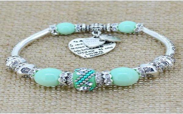 Náramek ve stříbrné barvě s barevnými kamínky Pandora style jen za 169 Kč