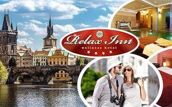 2 nebo 3 denní relaxace pro 2 osoby ve4* hotelu Relax Inn ve stověžaté Praze!! Čekají vás vydatné snídaně, relax v privátním wellness a sleva 10% na masáže a saunu!! Spojte poznání s relaxací!!