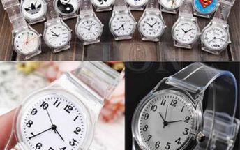 Stylové průhledné hodinky pro každou příležitost!