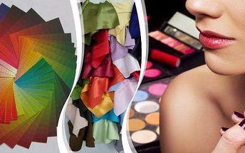 Poznejte kouzlo barev při velké barevné typologii v pražském salonu! Téměř 2 hodiny barevných informací, kdy zjistíte jaké barvy Vám sluší a jak je používat. Navíc získáte jako dárek kartičku s barvami a závěrečné lehké líčení.