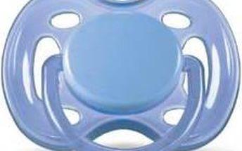 Dudlík/šidítko AVENT SENSITIVE 0-6m. bez BPA, 1ks modré