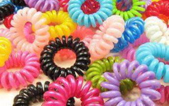 Spirálové gumičky do vlasů - balíček 3 ks pro culíky bez trhání, lámání a poškozování vlasů!
