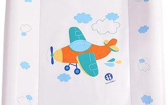 Petite&Mars Podložka přebalovací Paddy - bílá, letadlo, 70 cm