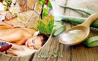 60 nebo 90min. thajská olejová masáž s aloe vera nebo s jasmínem pro 1 osobu nebo pár! Masírují rodilé Thajky!
