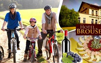 Jižní Morava - 3 nebo 4-denní pobyt pro 2 osoby s polopenzí a lahví vína. Na výběr také varianty pro rodinu s 1 nebo 2 dětmi! Zavítejte do rodinného Hotelu Broušek nedaleko propasti Macocha a poznejte nádhernou krajinu Moravského krasu!