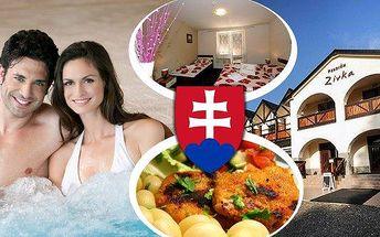 Svěží jarní pobyt,ubytovánív rodinném penzionu Zivka!! 3 nebo 4 dny pro 2 osoby se snídaněmi nebo polopenzí a vstupy do aquaparku Tatralandie nebo wellness na 3 hodiny!! Prožijte perfektní relaxaci v zeleném srdci Slovenska!!