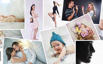 Ateliérové focení včetně vizážistky a hairstylingu s profesionální fotografkou Ivou Mažgútovou v Praze! Na výběr máte hodinové nebo 2hodinové focení pro 2 až 4 osoby! Užijete si focení v naprosto uvolněné atmosféře bez křečovitých výrazů a póz! Mějtenádh