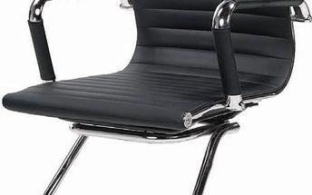 Jednací židle PRESTIGE SKID černé