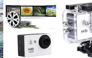 Outdoorová vodotěsná HD kamera. Lze používat do vody , na kolo , na přilbu atd.!! Zaznamenejte si všechny zajímavé zážitky z vašich outdoorových aktivit.
