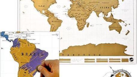 Stírací mapa světa!