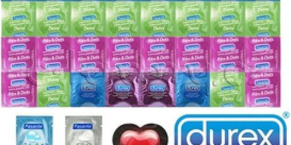 Akční balíčky kondomů - s kvalitou od firem Durex a Pasante vždy zaskórujete!