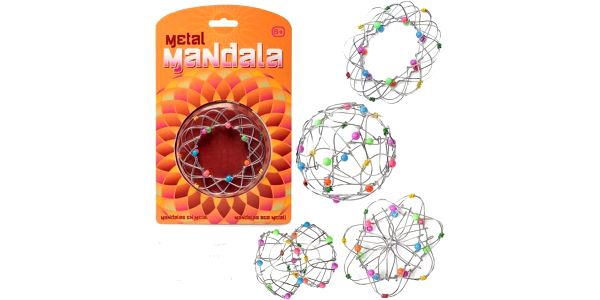 Skládací drátěná mandala