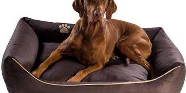 Pelech Argi pro psa obdélníkový - 70x55 cm / snímatelný potah hnědý