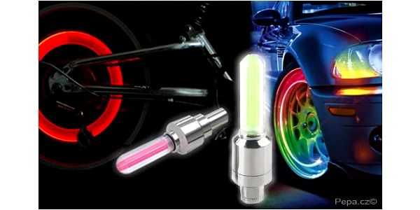 Svítící ventilky na kolo, auto i motorku pro bezpečnost i frajeřinu!