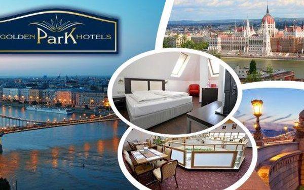 Luxusní pobyt v 4* Golden Park Hotel Budapest na 3, 4 nebo 6 dní pro 2 osoby a dítě do 12 let s bufetovými snídaněmi, neomezeným vstupem do sauny, fitness awelcome drinkem! Hotel se nachází přímo na stanici metra v samém centru města! Pobyt v centru Buda
