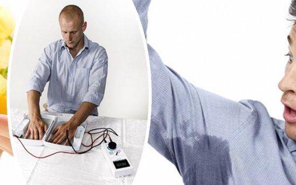 Revoluce v léčbě nadměrného pocení! Vyzkoušejte Electro antiperspirant - jedničku na trhu v boji s pocením. Potvrzená účinnost a snášenlivost u 100% pacientů! Pokud pocení rukou, nohou či podpaží trápí Vás nebo Vaše okolí, iontoforéza Electro Antiperspira