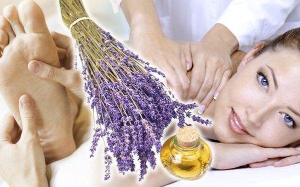 Hodinová regenerační levandulová masáž šíje, zad,ramen a plosek nohou v salonu Miruš v Plzni vám zajistí dokonalou relaxaci a uvolnění!! Rozmazlujte své smysly a hýčkejte své tělo!!