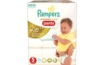 Pampers Premium Care Pants 5 Junior 12-18kg, 40ks kalhotkové pleny