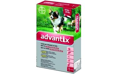 Bayer Advantix Spot - On 1 x 2,5 ml (pes 10 - 25kg)