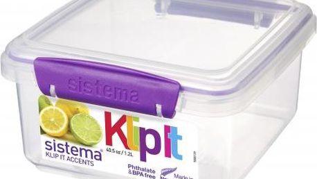 Sistema Velký box na obědy 1,2 l, Fialová