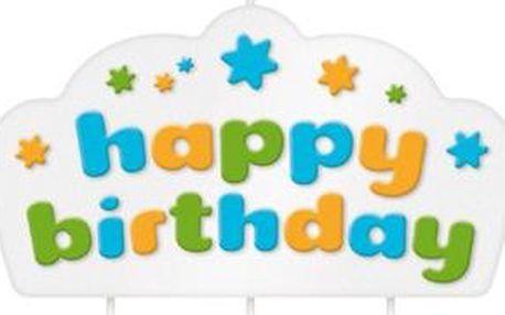 Tescoma dortová svíčka DELÍCIA KIDS, Happy birthday, modrá