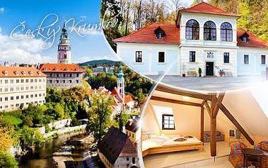Romantický pobyt na 3 dny pro 2 osoby u centra města Český Krumlov! Snídaně, káva, čaj a lahev vína!