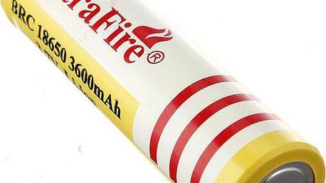 Nabíjecí Li-ion 18650 baterie 3600mAh - 1 kus - dodání do 2 dnů