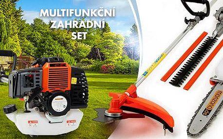 Multifunkční zahradní motorový set! 5 funkcí v jednom výhodném balení a doprava zdarma!