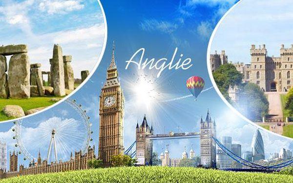 Anglie - Londýn, Oxford, Windsor, Stonehenge! Zájezd na 4/5 dní pro 1. os. Průvodce, ubytování v hotelu a snídaně.