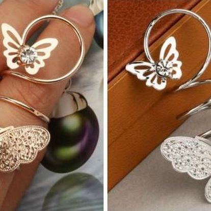 Výrazný dámský prstýnek Butterflies