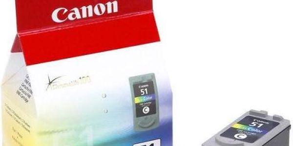 Inkoustová náplň Canon CL-51C, 330 stran - originální (0618B001) červená/modrá/zelená