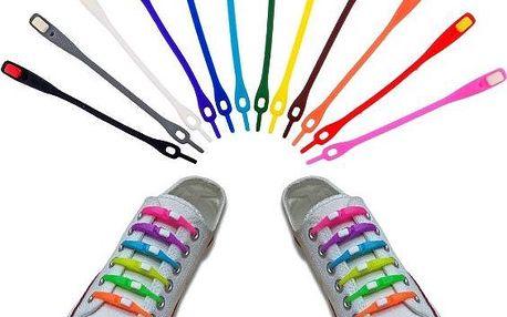Silikonové tkaničky pro lenochy