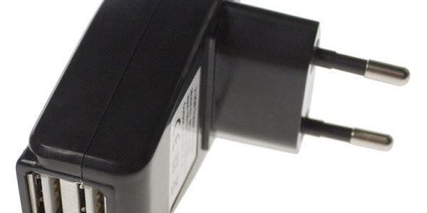 Aligator Powerstrong nabíjecí adaptér do sítě s 2x USB portem černý (EU blister)