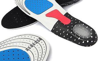 Vložky do bot se silikonovou podložkou paty - poštovné zdarma