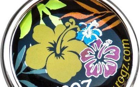 ROGZ ID TAGZ kovová známka Dayglo Floral 20 mm