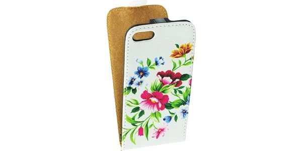 ForCell Slim flap pouzdro pro Samsung i9505 Galaxy S4 flower vzor2