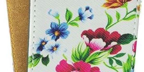 ForCell Slim flap pouzdro pro Samsung i9505 Galaxy S4 flower vzor2