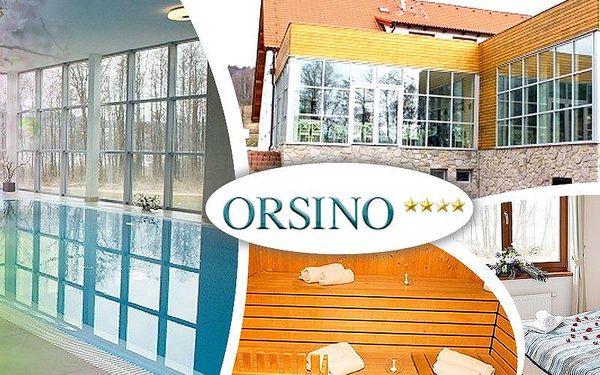 Relaxační wellness pobyt ve 4* hotelu Orsino, bazén, sauna, masáž, výborné jídlo, cyklostezky aj.